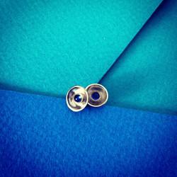 Blue Sapphire & White Gold Earrings