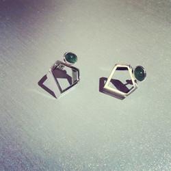 Emerald & Diamond Cut Earrings