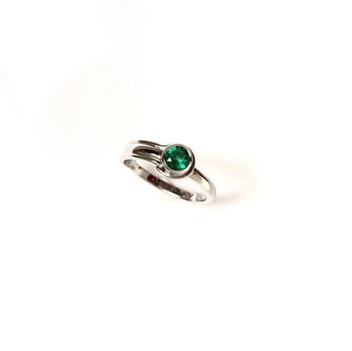 """""""The Whole World"""" Emerald & White Gold Engagement Ring"""