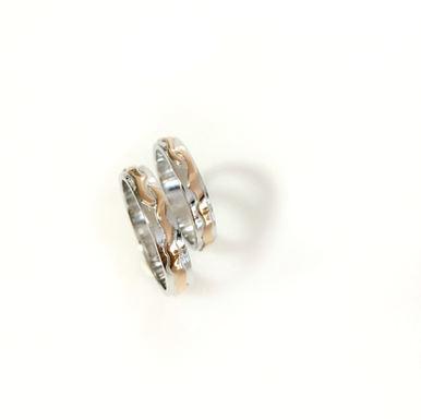 """""""Love Line"""" Wedding Rings"""
