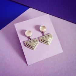 Pyramids & Quartz Silver Earrings