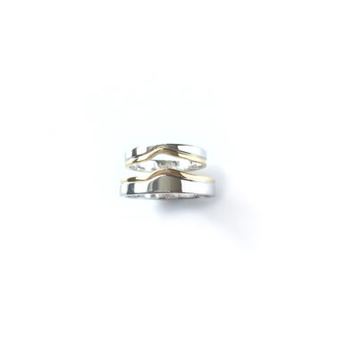 """""""The Sea and The Sand"""" Wedding Rings"""