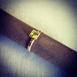 Peridot & Yellow Gold Ring