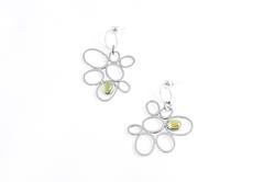 Golden Beryl Orchid Earrings