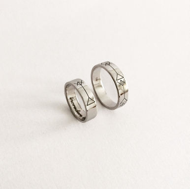 """The Symbol"" Wedding Rings"