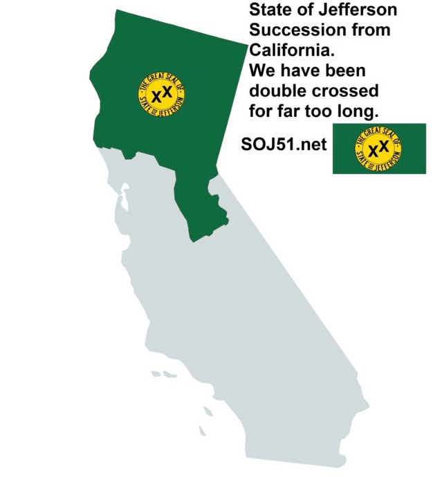 Jefferson Fail New California State Only Option To Become 51st