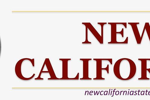 New California Bumper Sticker Original