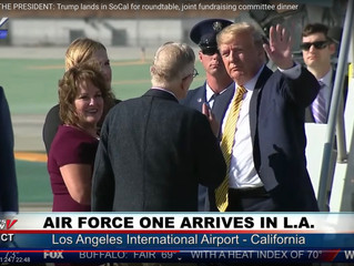 Trump Arrives in Los Angeles and is Greeted by California State Senator Shannon Grove from Kern Coun