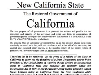 Restored California Resolution Passed by New California State