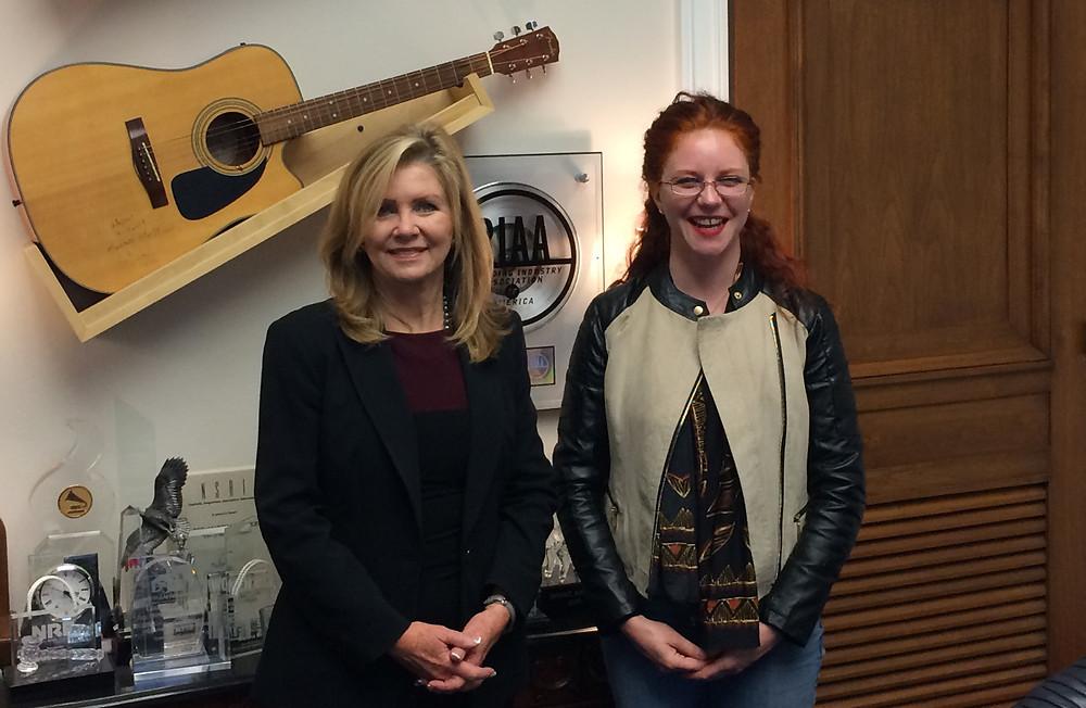 Congressman Marsha Blackburn and Amanda Colleen Williams of Songpreneurs