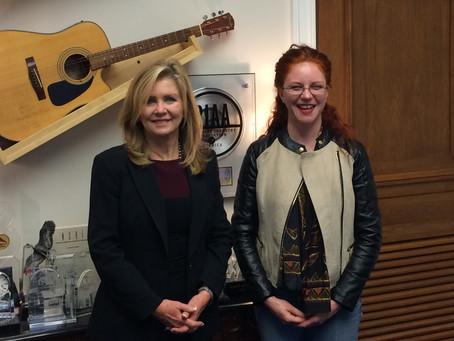 Songpreneurs Offer Support to Songwriters Caucus Representative Marsha Blackburn
