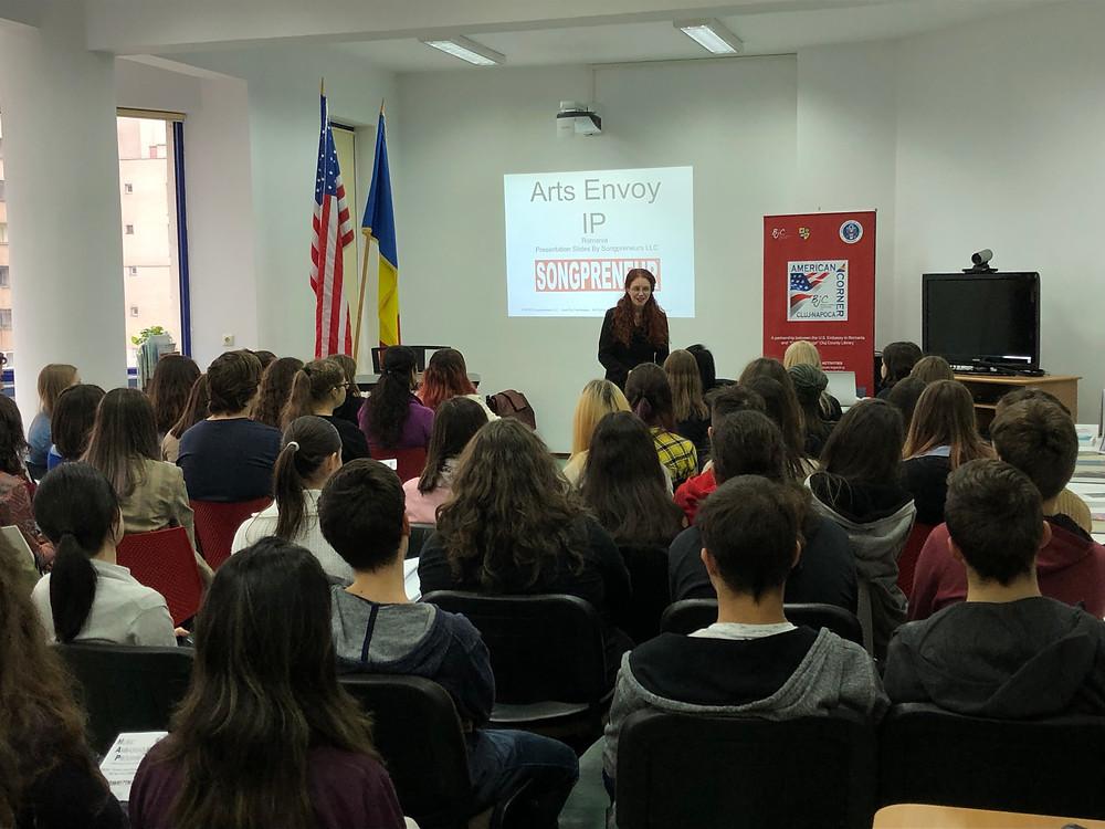 Arts Envoy IPR Amanda Colleen Williams in Romania