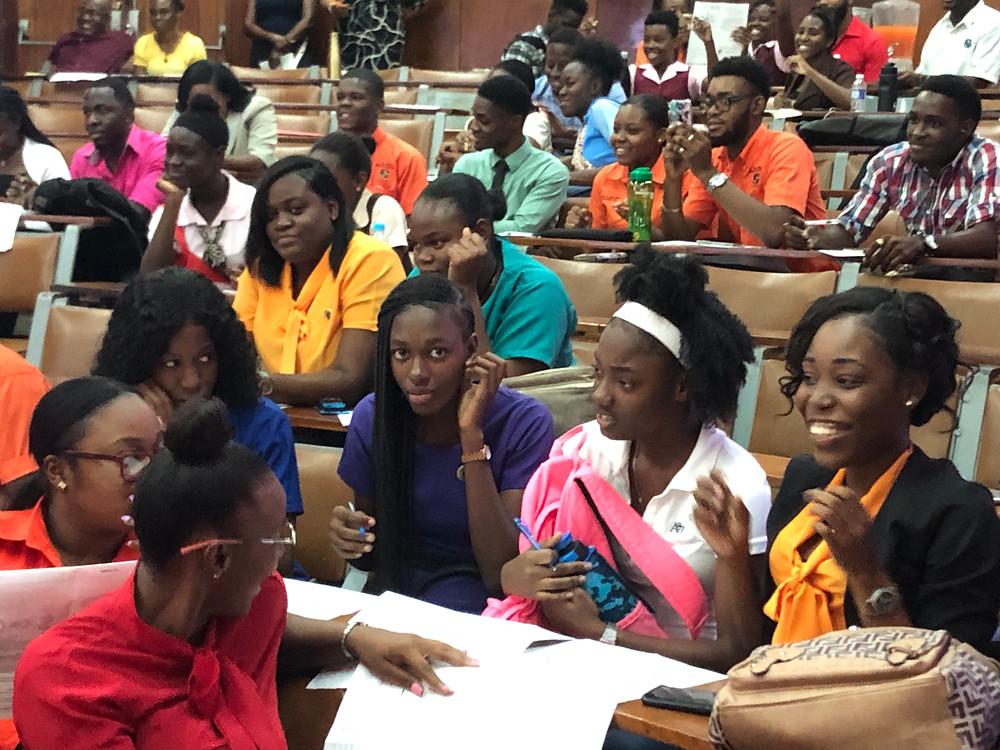 Arts Envoy IPR Kingston, Jamaica working with future teachers at MICO University