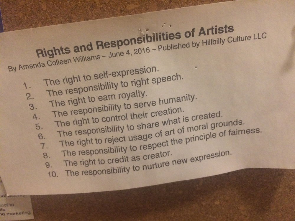 Rights and Responsibilties of Artists