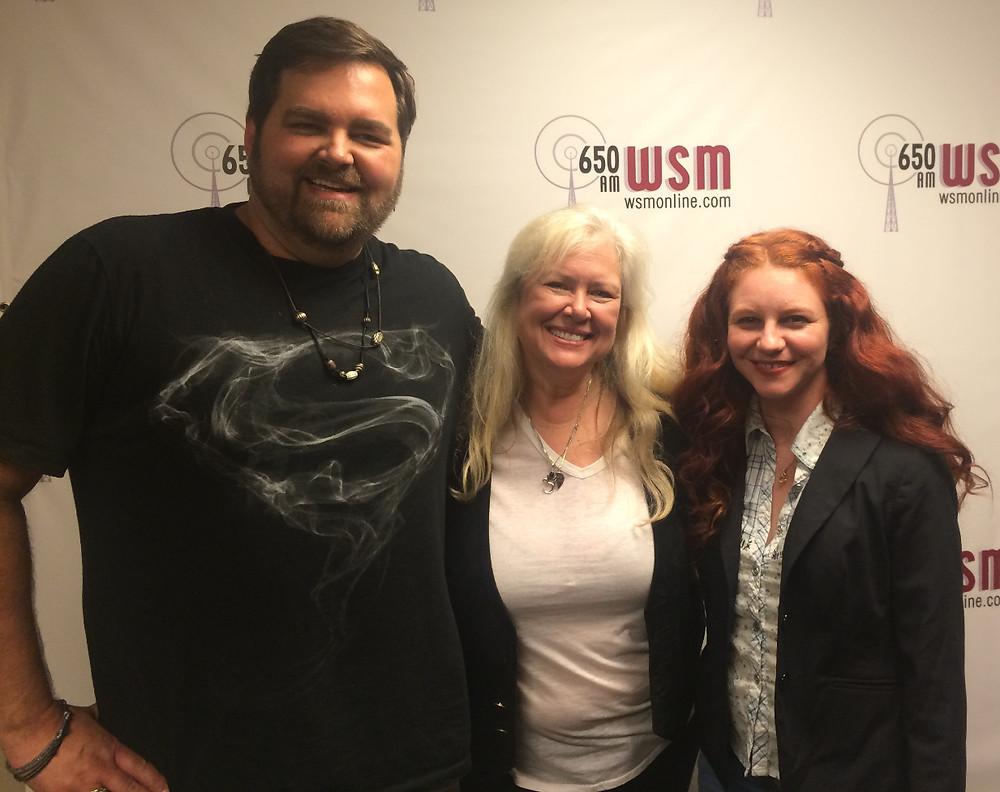 James Robert Webb, Devon O'Day and Amanda Colleen Williams on WSM Radio