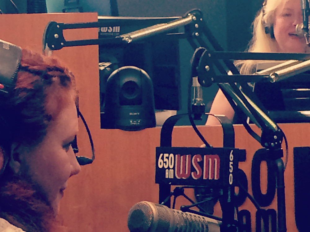Amanda Colleen Williams with Devon O'Day on Nashville Today WSM photo