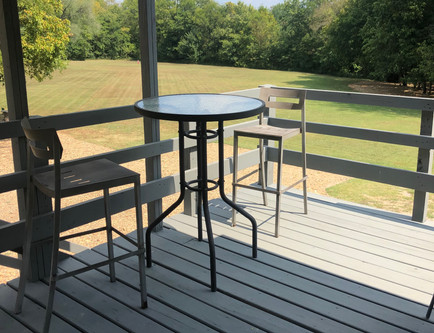 Upstairs patio at the 7695
