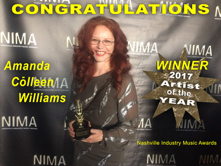 Amanda Colleen Williams Named Artist of the Year at NIMA Nashville Industry Music Awards 2017