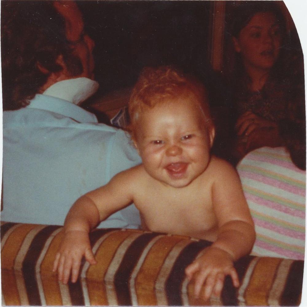 Kim Williams and Amanda as baby. Aunt Linda Williams across