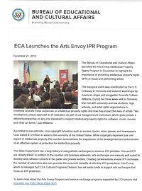 ECA Launches Arts Envoy IPR Amanda Colle