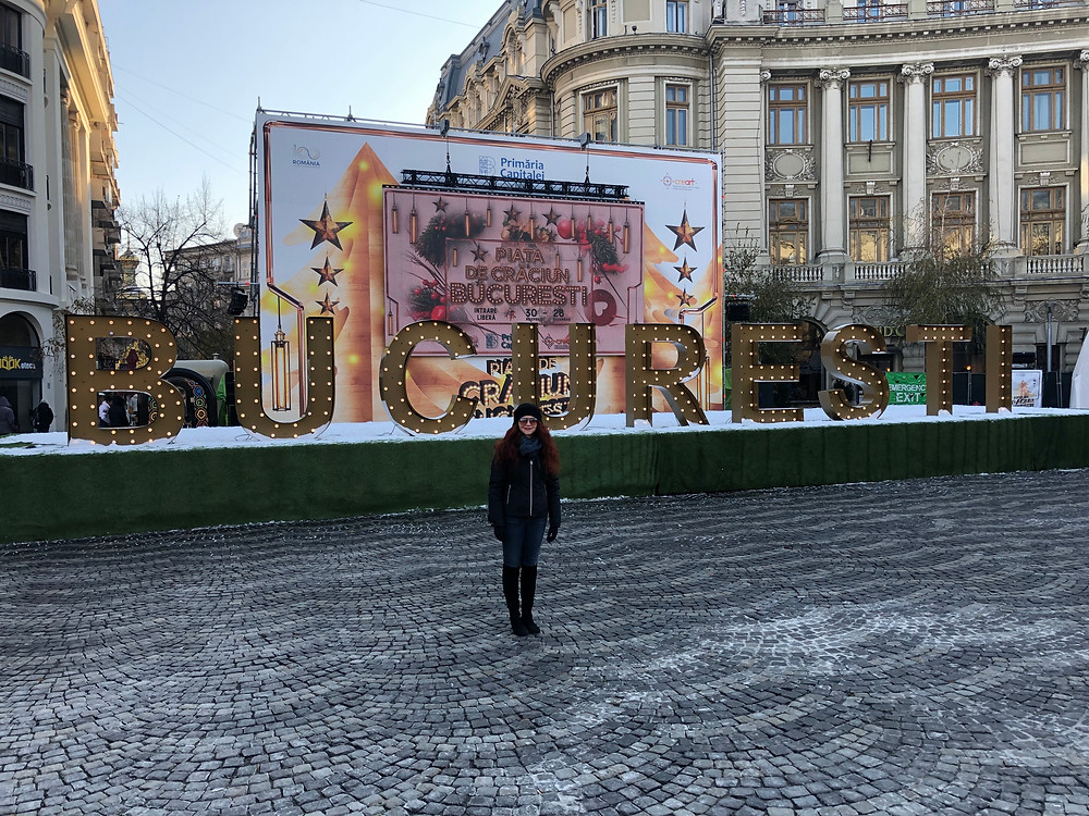 Amanda in Bucharest Arts Envoy IPR Romania 2018