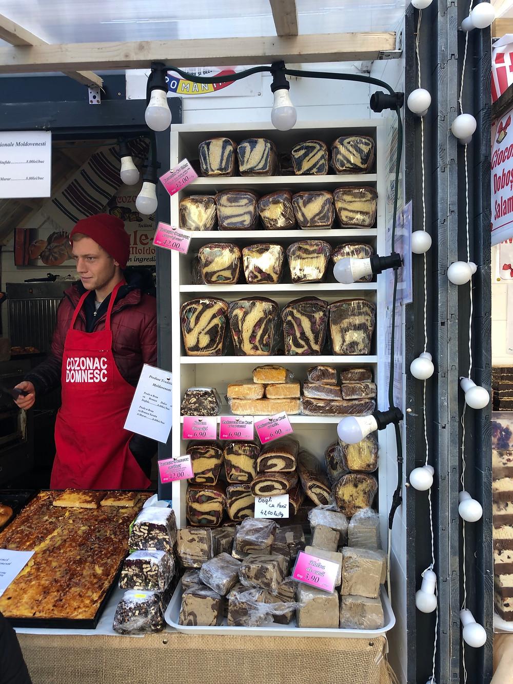 Cluj Napoca loaves and buns Christmas Market