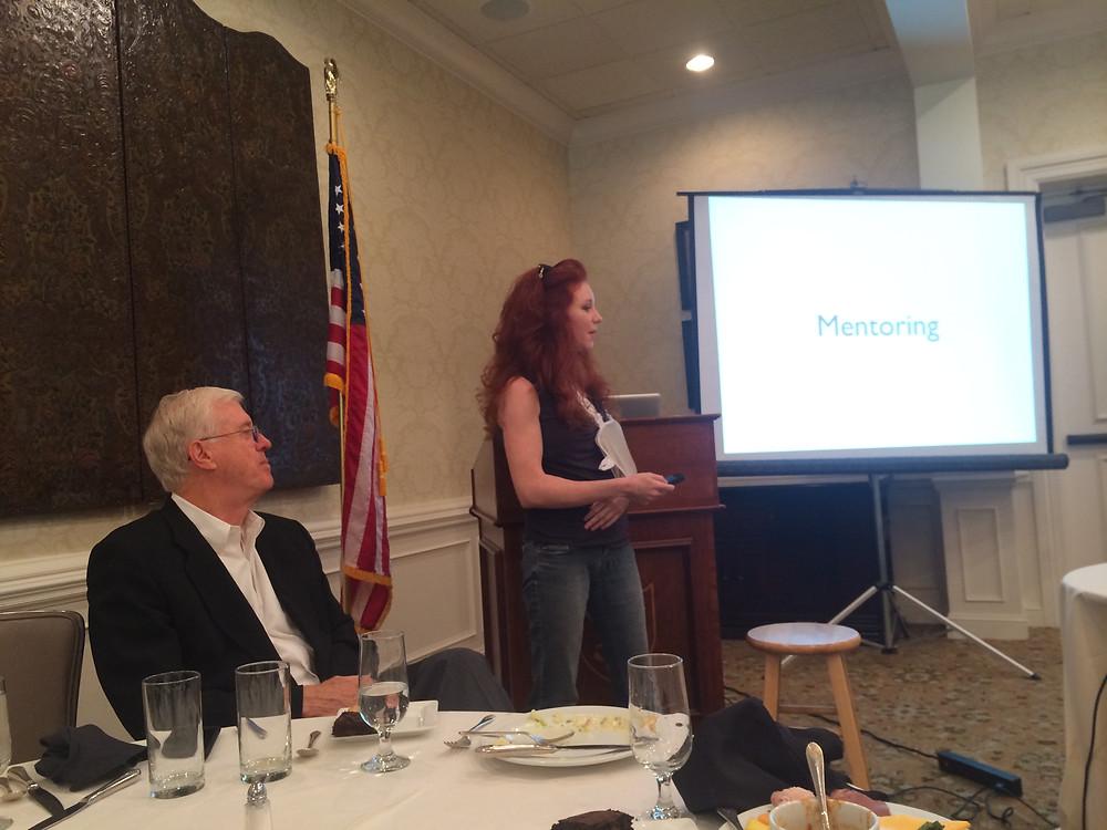 Amanda Colleen Williams leading SCORE luncheon workshop
