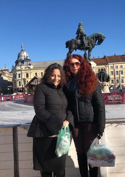 Isabella and Amanda in Cluj