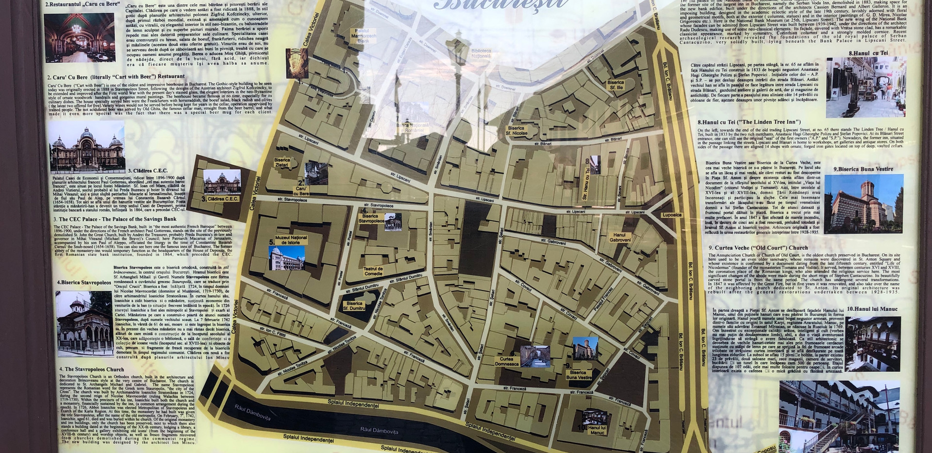 Historic Town Center Bucharest Map