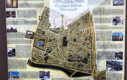 Historic Town Center Bucharest Map