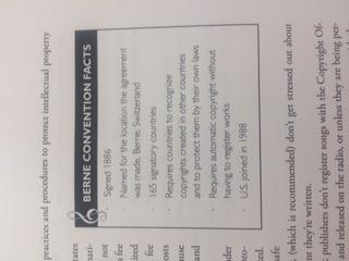 International Berne Convention Getting Started Workbook sample page