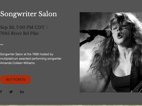 Limited Tickets for Songwriter Salon