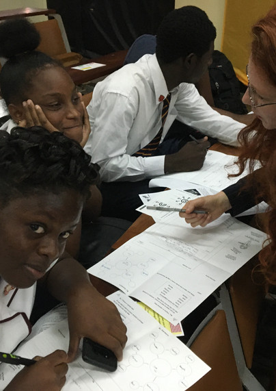 Students in Kingston Jamaica