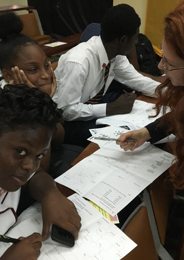 Students in Kingston Jamaica