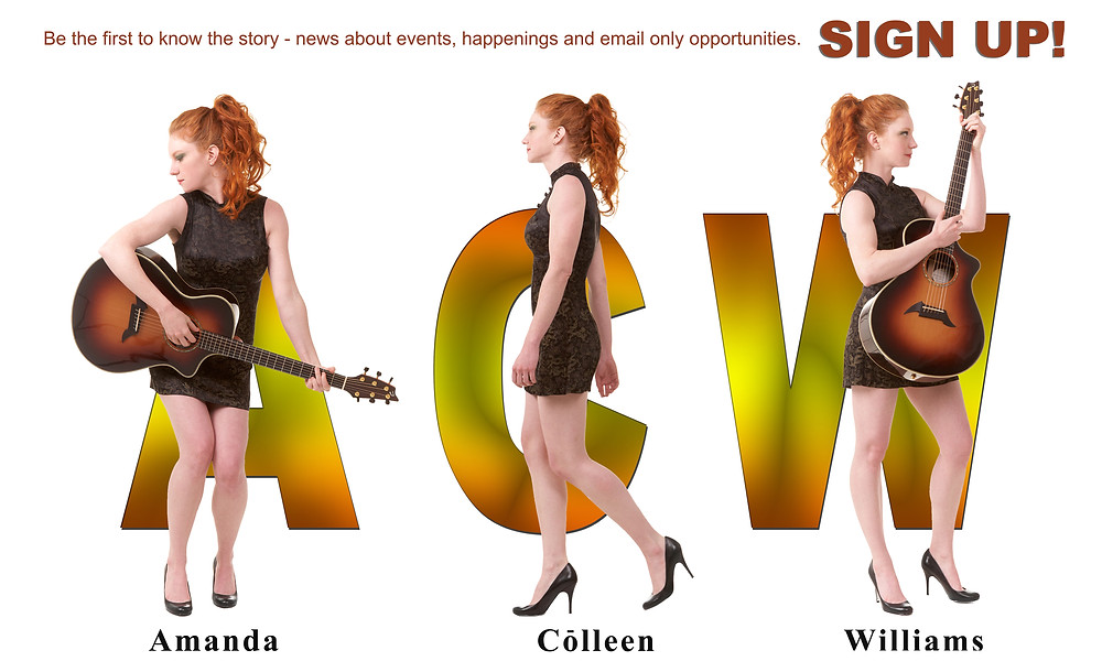 Sign up for Amanda Colleen Williams Songlife Newsletter emails