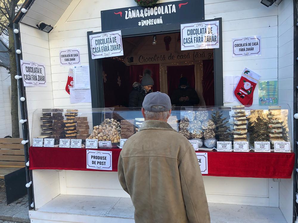 Chocolate at Christmas Market Cluj Napoca