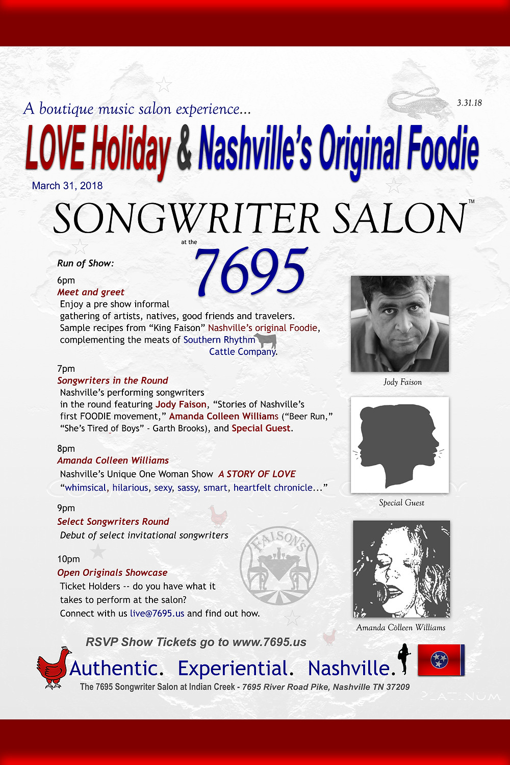 Songwriter Salon Nashville Jody Faison