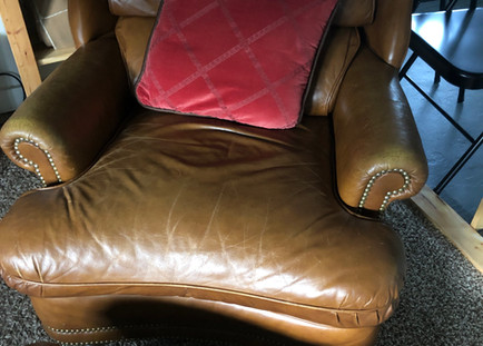 Leather Chair and Ottoman Upstairs 7695 River Road Pike Events Space