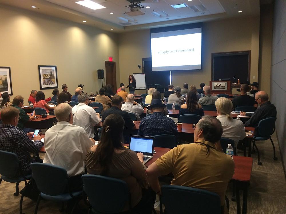 Amanda Colleen Williams teaching the SCORE Music Symposium Panel