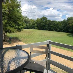 Upstairs patio greens view at 7695 Nashv