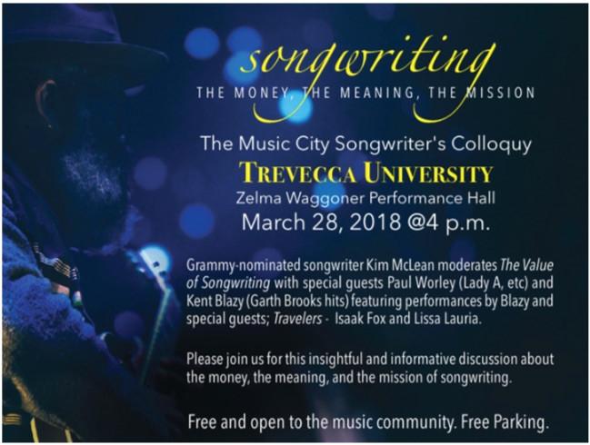 Songwriting Trevecca University Event