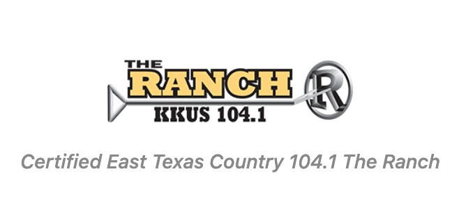 logo for The Ranch KKUS 104.1 Tyler, Texas Country Music Radio Station
