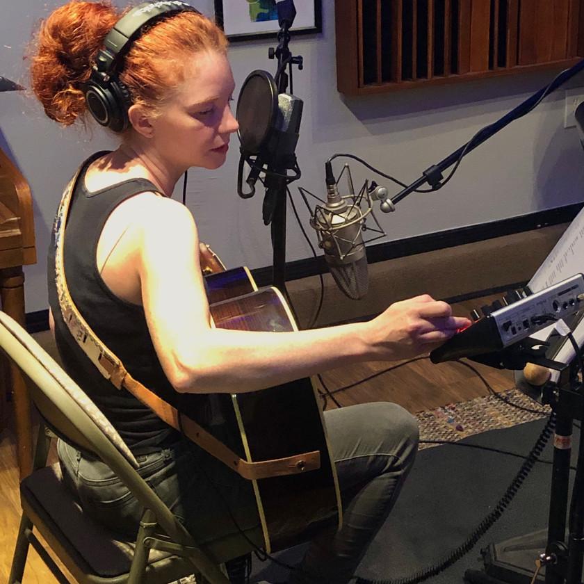 Amanda tracking guitar
