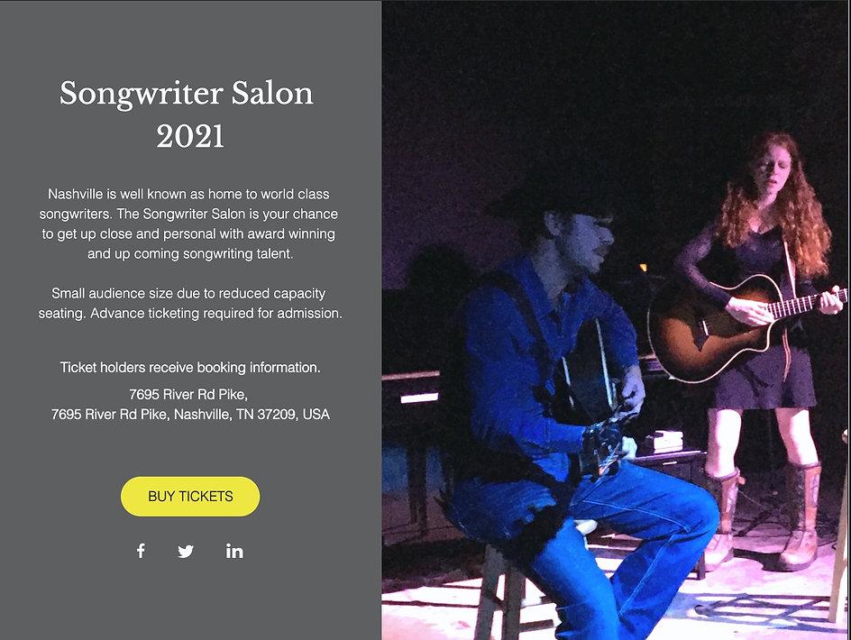 Songwriter Salon 7695 Nashville Concert
