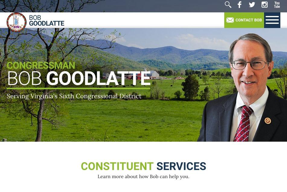 Bob Goodlatte's Website Image