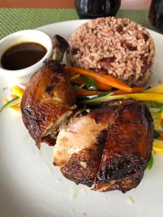 Jamaica jerk chicken red peas and rice