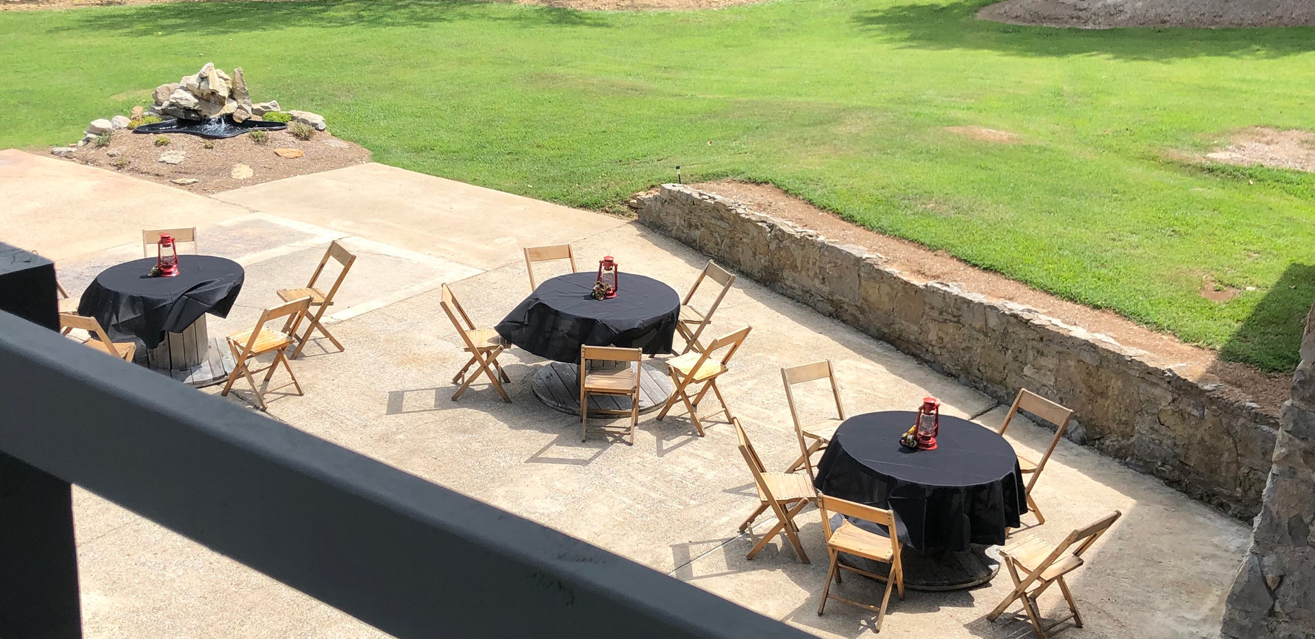 Looking down from upstairs patio 7695 Nashville Events Space