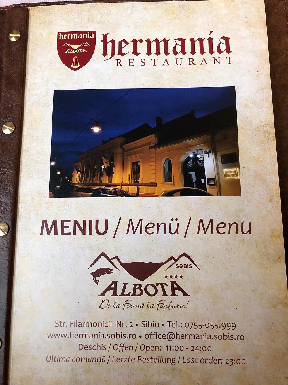 Hermania Restaurant Sibiu Romania