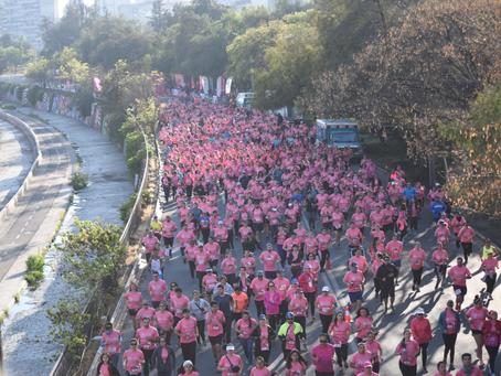Más de 10 mil personas tiñeron de rosado la XXIII Edición de la  Corrida Caminata AVON-FALP para gan