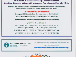 2017 Summer Camps! Registration opens March 13th.